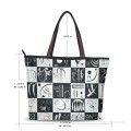 Personalized Canvas Tote Bag Purse contemporary abstract painting Thirty Trente USD19 2